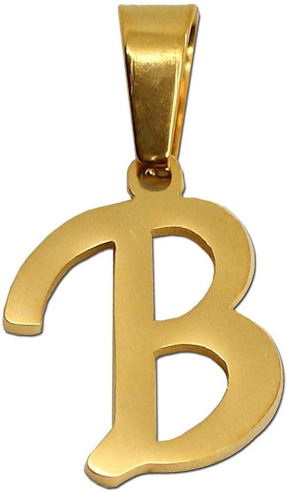 Sac Cadeau Lettre Alphabet nom Collier cha/îne Couleur Or Femme Homme en Acier Inoxydable Charme tumundo 1 Pendentif