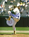 DENNIS LAMP OAKLAND ATHLETICS SIGNED AUTO 8x10 PHOTO W/COA