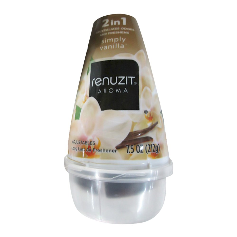 Renuzit Adjustables Cone Air Freshener, Simply Vanilla, 7.5 oz-3 pk