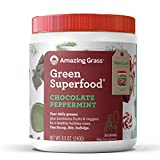 #5: Amazing Grass Green Superfood Organic Powder with Wheat Grass and Greens, Flavor: Chocolate Peppermint, 30 Servings