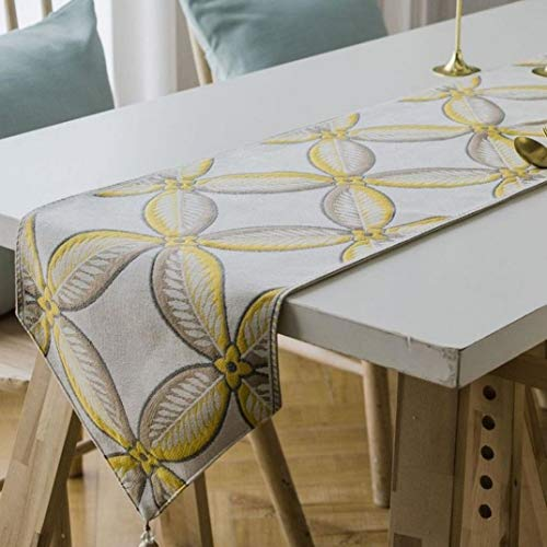 SYHK Embroidered Table Runners for Wedding Birthday Decorative Home Bed Europe Dinning Tablecloth]()
