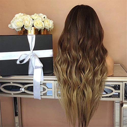 1102-875 Synthetic Hair Long Wavy Wigs Womens Heat Resistant Female Fake Hair Female Hair Decorations