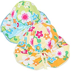 Sept.Filles Baby Sun Hat Double-sided Cotton Sun Protection Packs of 2(C)