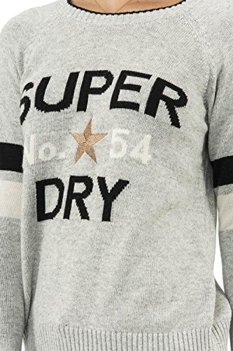 Gris Superdry Hiver Pull g610011nr Superdry Pull B7w8zz