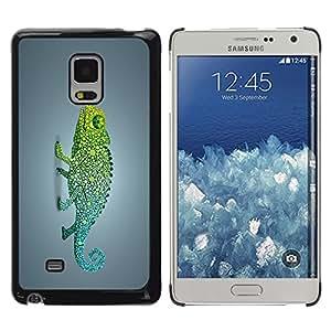 Planetar® ( Funky Rainbow Chameleon ) Samsung Galaxy Mega 5.8 / i9150 / i9152 Fundas Cover Cubre Hard Case Cover