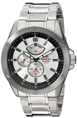 Orient Men's Enforcer Japanese-Automatic Watch with Stainless-Steel Strap, Silver, 24 (Model: FEZ07004W0)