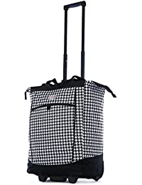 Fashion Rolling Shopper Tote - Houndstooth, 2300 cu. in.