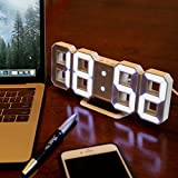 Lily's Home Minimalist LED Clock with 3
