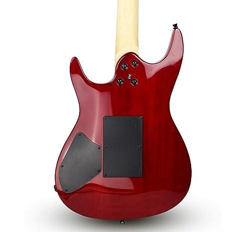 Miiliedy Red Cool Guitarra eléctrica adecuada para Rock Roll Blues Heavy Metal Estilos musicales populares Juego de guitarra eléctrica con Big Bag Guitar ...