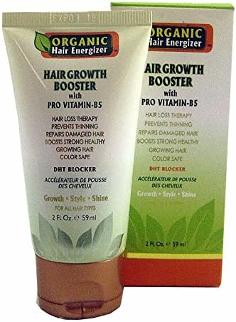 Organic Hair Growth Booster with Pro Vitamin-B5, 6 fl oz - DHT-Blocker, Sulfate-Free & Paraben-Free - for Thinning & Receding Hair - Color Safe for Men, Women & Teens