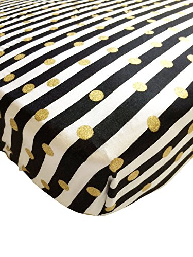 Danha Crib Sheet (Gold dot & Stripe) (Gold Fitted Crib Sheet compare prices)