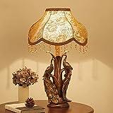 JU Creative Peacock Table Lamp European Style Retro Table Lamp Bed Bedside Lamp Living Room Decorative Lighting