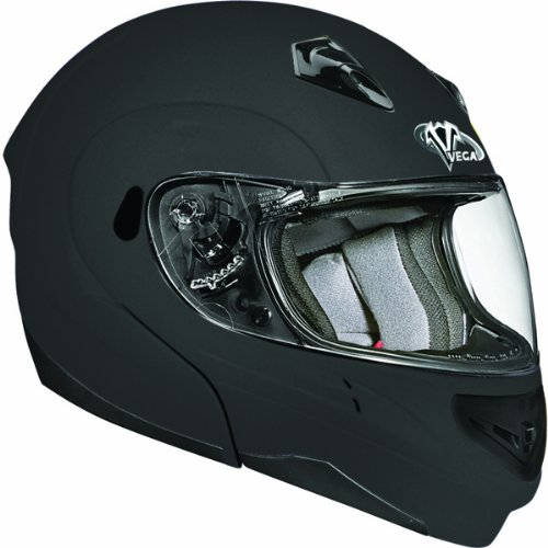 Vega Summit II Modular Helmet (Flat Black, Medium) (2 Helmet Summit Vega)