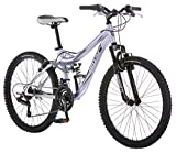 Mongoose Girls Maxim Full Suspension Bicycle (24-Inch)