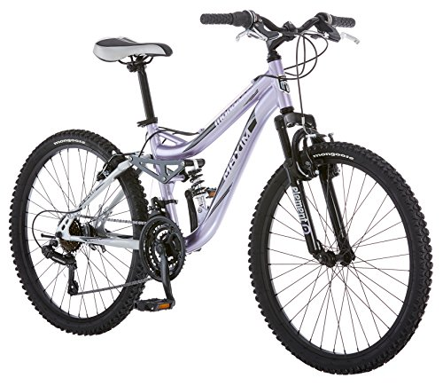 Mongoose R3577 Girl's Maxim Full Suspension Bicycle (24-Inch) (Terrain All Bicycle Aluminum)