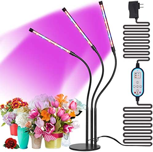 Cycle Timing High Brightness 36W Desk Grow Light, Cycle Timing Auto ON Off Every Day, 4H 8H 12H Cycle Timer, 8 Levels Dimming, Indoor Plant Grow Lights, No Daily Manual Operation