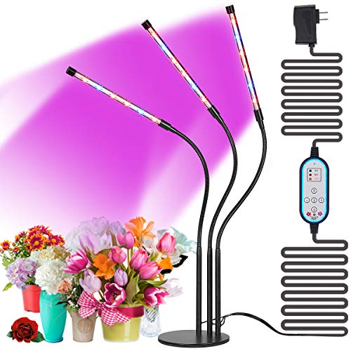 $36.99 High Brightness 36w Grow Light,Auto ON & Off Every Day with Cycle Timer Desktop Plant Light,8 Dimmable Levels,4/8/12H Cycle Timing for Indoor Greenhouse Growing Lamps 2019