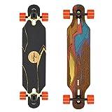 Tableros cargados Icarus Bamboo Longboard Skateboard completo con 80 mm 80a Kegels (Flex 2)