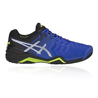 400a06d4e02f66 Image Unavailable. Image not available for. Color: ASICS Men's Gel  Resolution 7, Illusion Blue/Silver ...