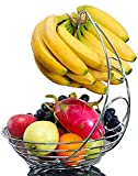 EVER RICH Fruit Bowl with Banana Hanger (Chrome)