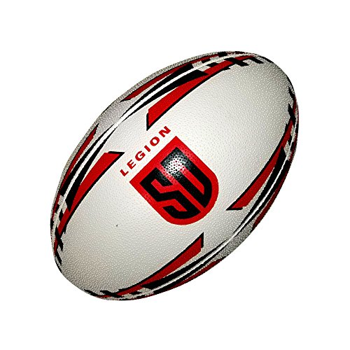 Ram Rugby Official San Diego Legion Major League Rugby Gripper Pro Training Ball by Size 5 - Red\Black
