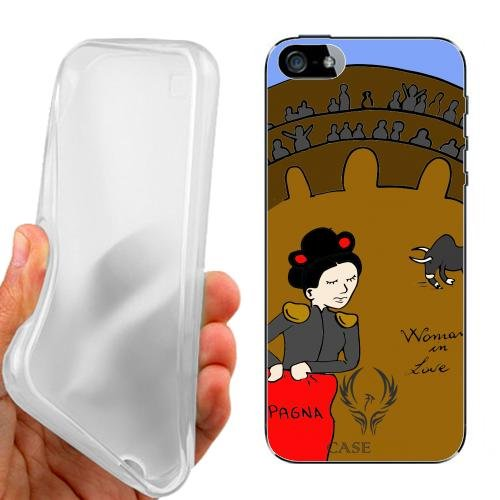CUSTODIA COVER CASE CASEONE WOMAN IN LOVE SPAGNA PER IPHONE 5 5G 5S