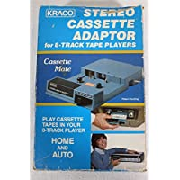 Kraco Enterprises, Inc. Kraco Stereo Cassette Adapter Model# KCA-8 (8-Track Cassette Tape Adapter)(Put Cassette in 8-Track Adapter and Cassette will play in a 8-Track Player)