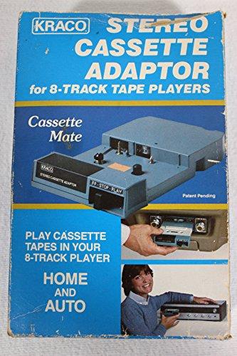 Kraco Enterprises, Inc. Kraco Stereo Cassette Adapter (8-Track Cassette Tape Adapter) (Put Cassette in 8-Track Adapter and Cassette will play in 8-Track Player)