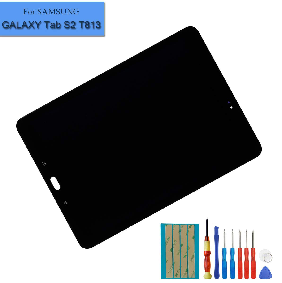 Replacement LCD Compatible with Samsung Galaxy Tab S2 9.7'' T810 T813 T815 T817 Display Digitizer Assembly Touch Screen (Black) + Tools