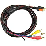 ANKRY 5Ft 1.5m HDMI To 3-RCA Video Audio AV Component Converter Adapter Cable For HDTV DVD
