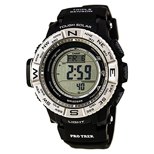 Casio Men's Pro Trek PRW-3500-1CR Solar Powered Atomic Resin Digital Watch (Best Android Compass 2019)