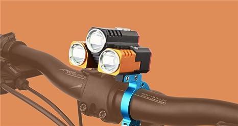 efff39bf5 LLTS Bicicletta tre luci LED luci attrezzatura Equitazione Mountain Bike  fari anteriori