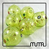 Set of 6 Murano glass Christmas ball handmade.Festive Season Christmas Ball Ornaments, Tree Decorations (Set of 6, 80mm)