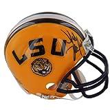 NCAA LSU Tigers Les Miles Autographed Riddell Replica Mini Helmet