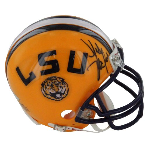 [NCAA LSU Tigers Les Miles Autographed Riddell Replica Mini Helmet] (2007 College Football Champion)