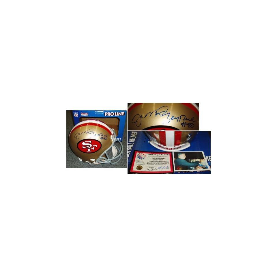 Joe Montana Jerry Rice Signed 49ers ProLine Helmet