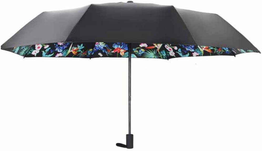 folding umbrella UV protection printing umbrella sun umbrella Kaxima Vinyl umbrella black umbrella 54x112cm