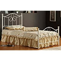 Hillsdale Furniture 1354BTWMR Westfield Metal Bed Set with Rails, Twin, Off White