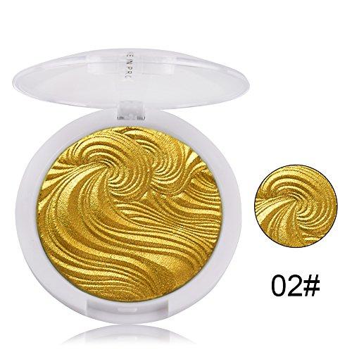 Spdoo 3D Shimmer Powder Highlighter Silver Golden Face Base Highlight Contour Illuminator Makeup Bronzers