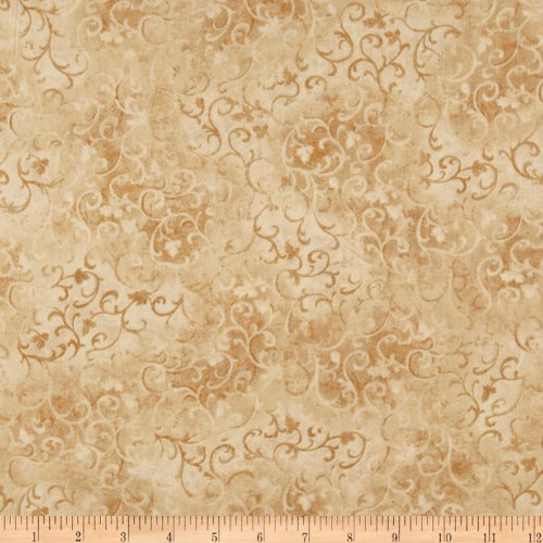 108in Essential Scroll Quilt Backing Quilt Backing Tan Fabric By The Yard