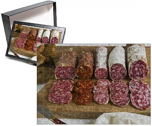 Tuscany Italian Gourmet Food (Photo Jigsaw Puzzle of Different type of Tuscan salami, Tuscany,)