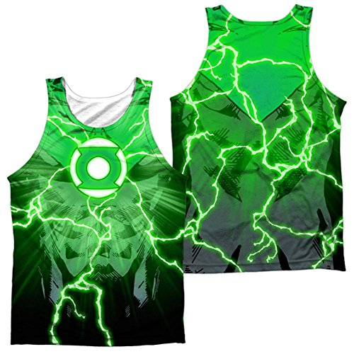 Tank Top: Green Lantern- Power Surge (Front/Back) Size L -