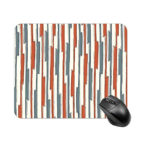 Atunme Mouse Pad Parallel Fence Line red Green Customized Rectangle Non-Slip Rubber Mousepad Computer Gaming Mousepad