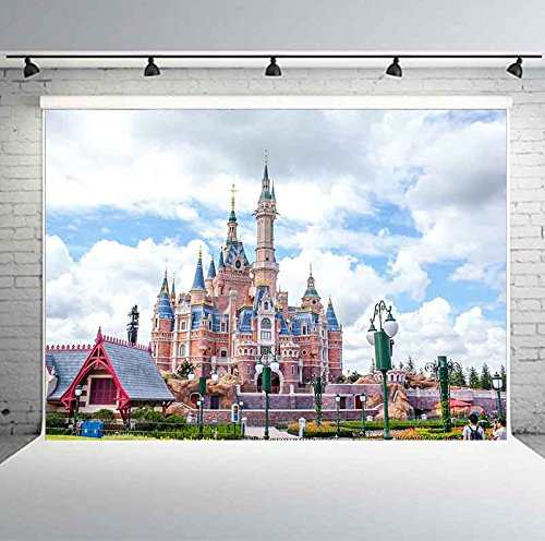 7X5ft Backdrop Fairy Tale Castle Photography Background Kids Theme Birthday Party Decoration Banner Photo Shooting Props GEPH018 PHMOJEN