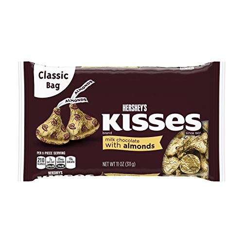HERSHEY'S KISSES Milk Chocolate W/Almonds - 11 oz