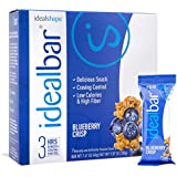 IdealBar, Meal Replacement Bars, Blueberry Crisp, w/Hunger Blocker - 140 Calories, 7g Sugar, 10g Protein - 7 Bars