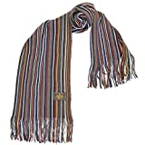 Rio Terra Men's Knitted Scarf, Designer Scarves for Winter Fall Fashion, Garden Rainbow