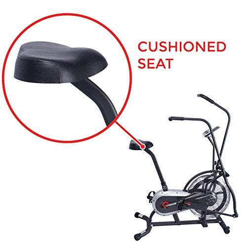 Sunny Health & Fitness Zephyr Air Bike, Fan Exercise Bike with Unlimited Resistance, Adjustable Handlebars - SF-B2715