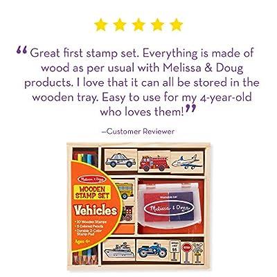 Melissa & Doug Vehicle Stamp Set: Melissa & Doug: Toys & Games