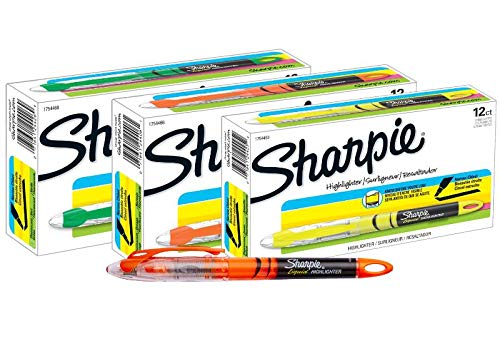 Sharpie Accent Pen-Style Highlighters, 12 Fluorescent Orange, 12 Fluorescent Yellow & 12 Fluorescent Green, Total of 36 Highlighters by Sharpie (Image #8)